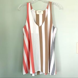 Anthropologie Tops - Anthropologie Puella Striped Swing Top Size Small